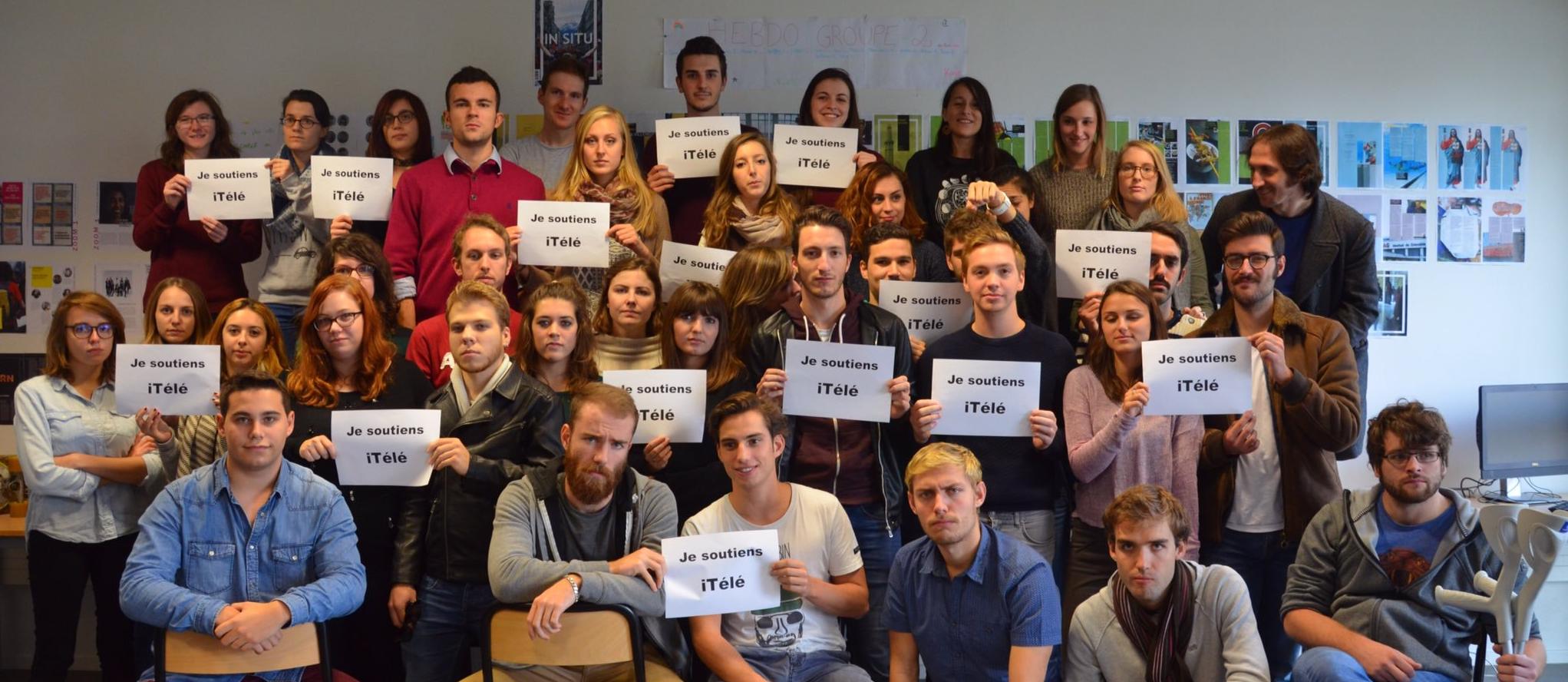 Les étudiants de l'EJdG soutiennent iTélé